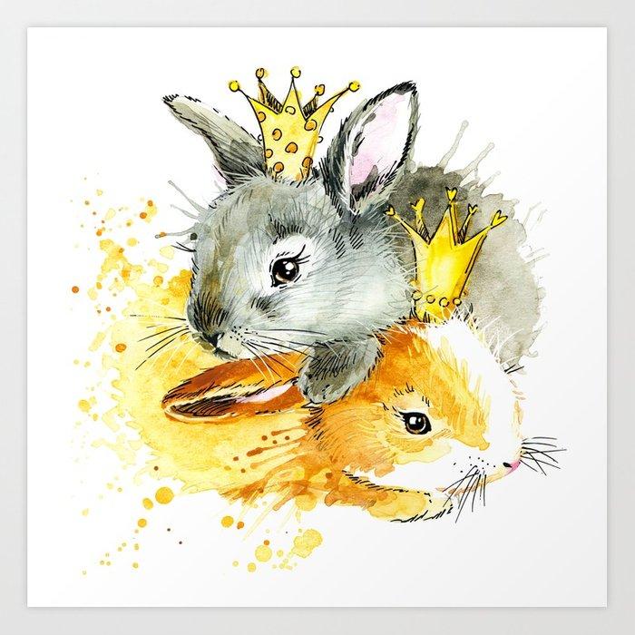 700x700 Rabbit Princess T Shirt Graphics. Rabbit Princess Illustration