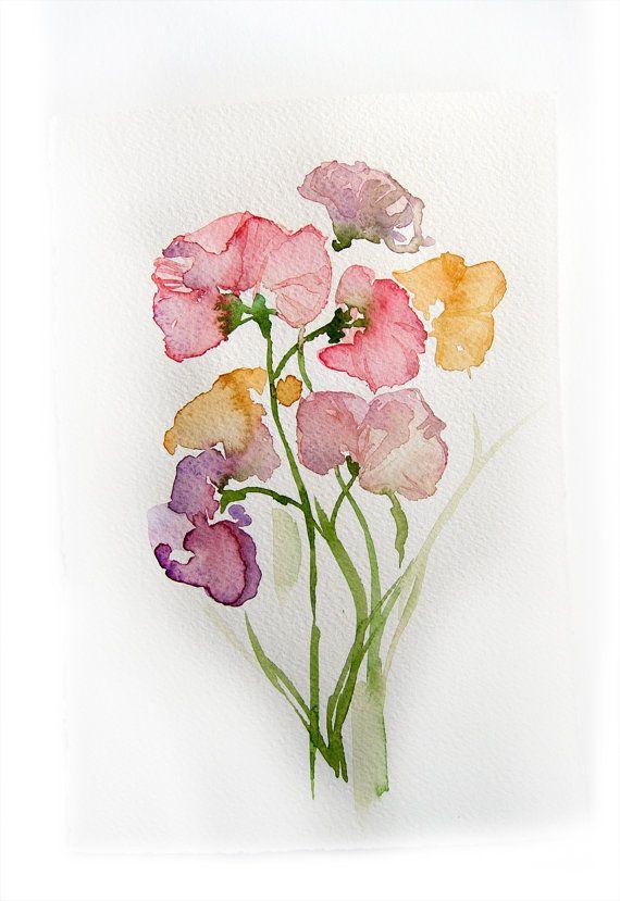 570x829 Spring Flowers. Watercolor Original.flowers Painting. Art Original