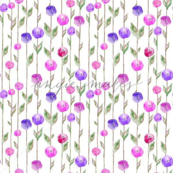 600x600 Watercolor Spring Flower Background. Watercolor Flower Field