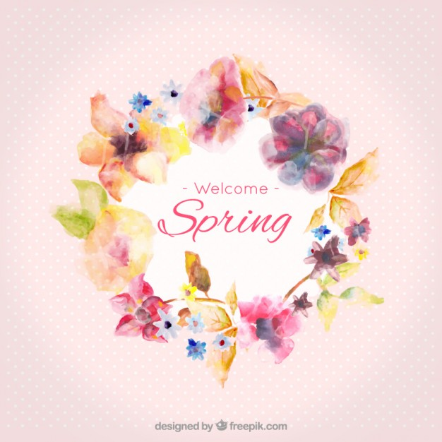 626x626 Watercolor Spring Frame Vector Free Download