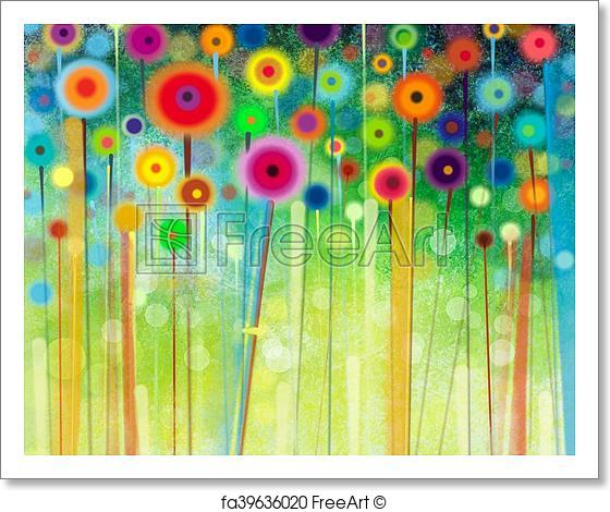 560x470 Free Art Print Of Abstract Flower Watercolor Painting. Abstract