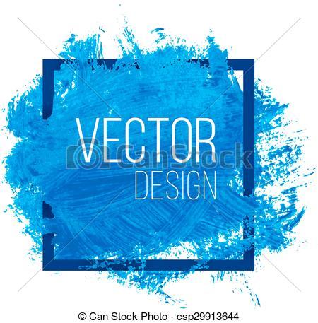 450x457 Blue Watercolor Blot In Square Frame. Blue Watercolor Blot In
