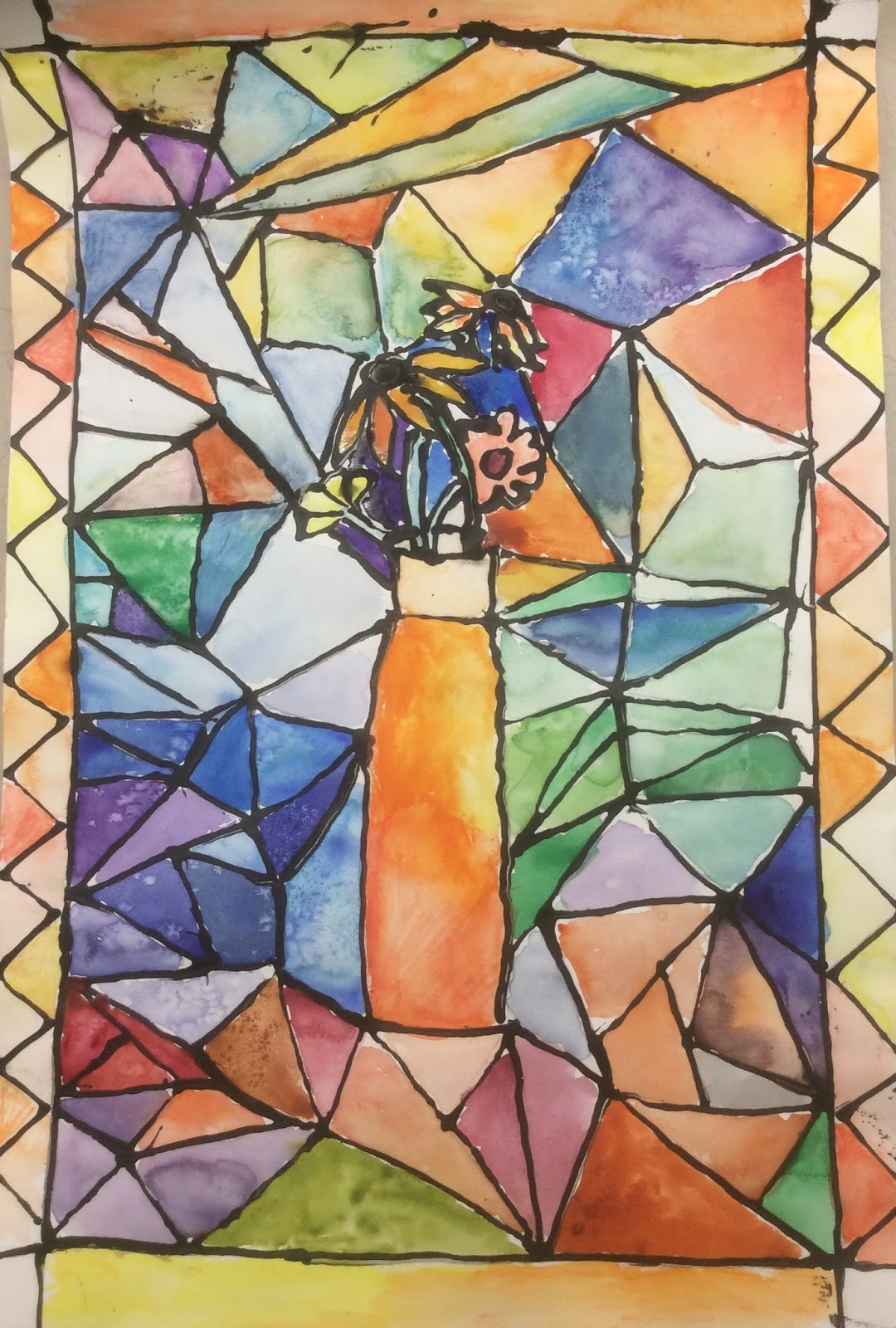 1080x1600 Art With Mrs. Elliott Stained Glass Inspired Watercolor Paintings