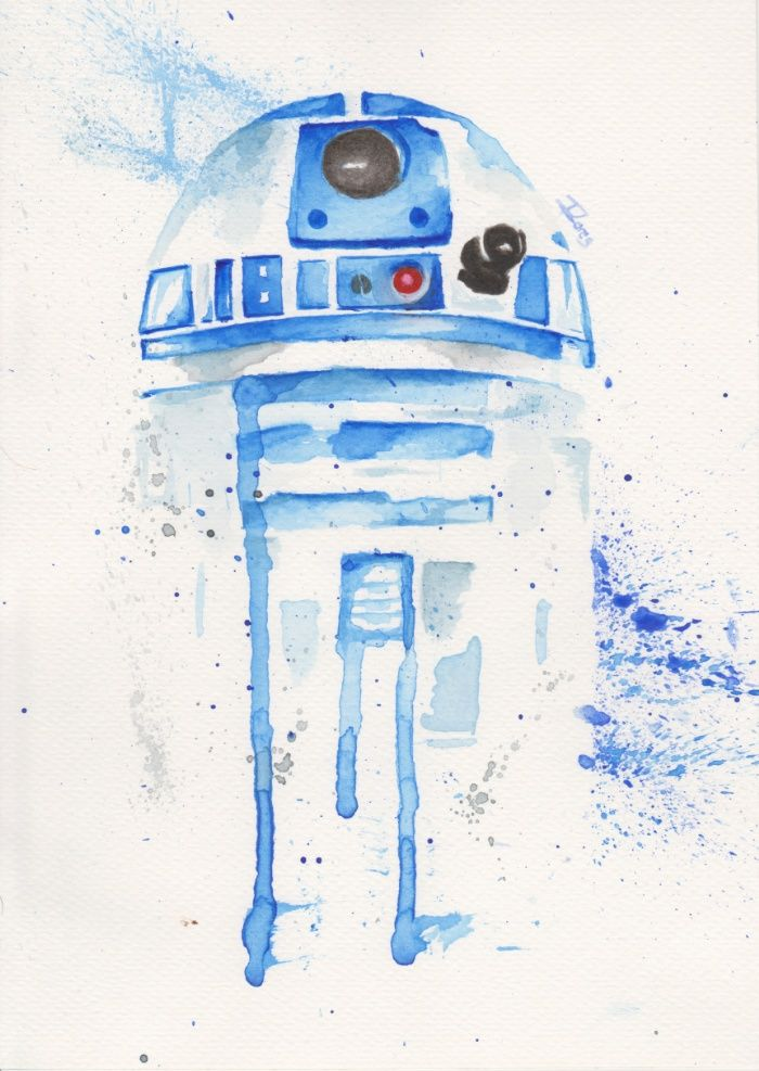 700x987 R2 D2 Watercolor Art Print By Ilores Society6 Star Wars Star