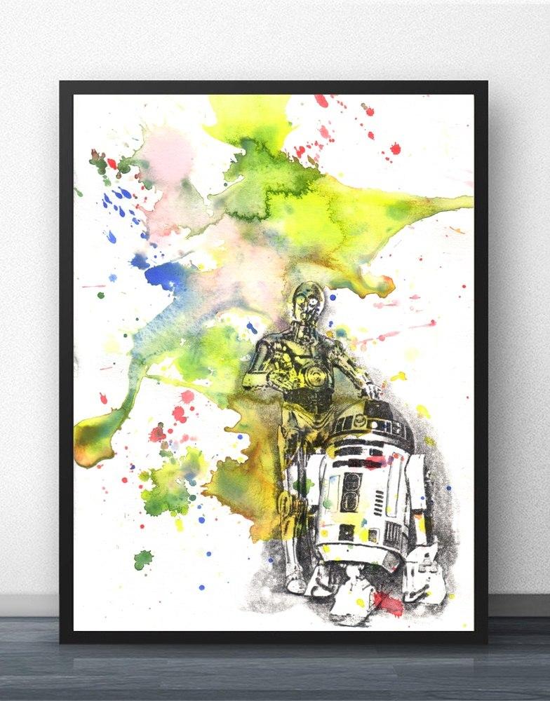 784x1000 Star Wars Watercolor Movie Wall Art Paint Wall Decor Canvas Prints