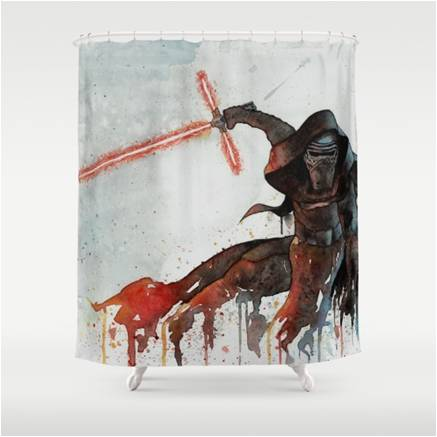 437x437 Star Wars Watercolor Kylo Ren Shower Curtain Star Wars Bedroom