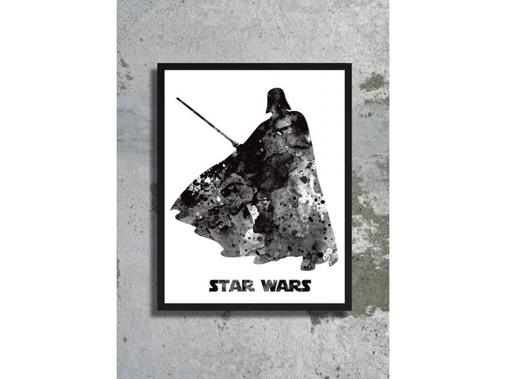 1024x768 Darth Vader Star Wars Watercolor Art Print Star Wars Poster Star