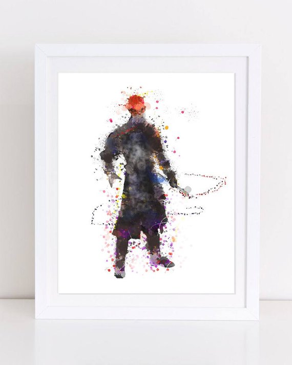 570x713 70% Dh Maul Poster Star Wars Watercolor Sith Poster Nursery Etsy