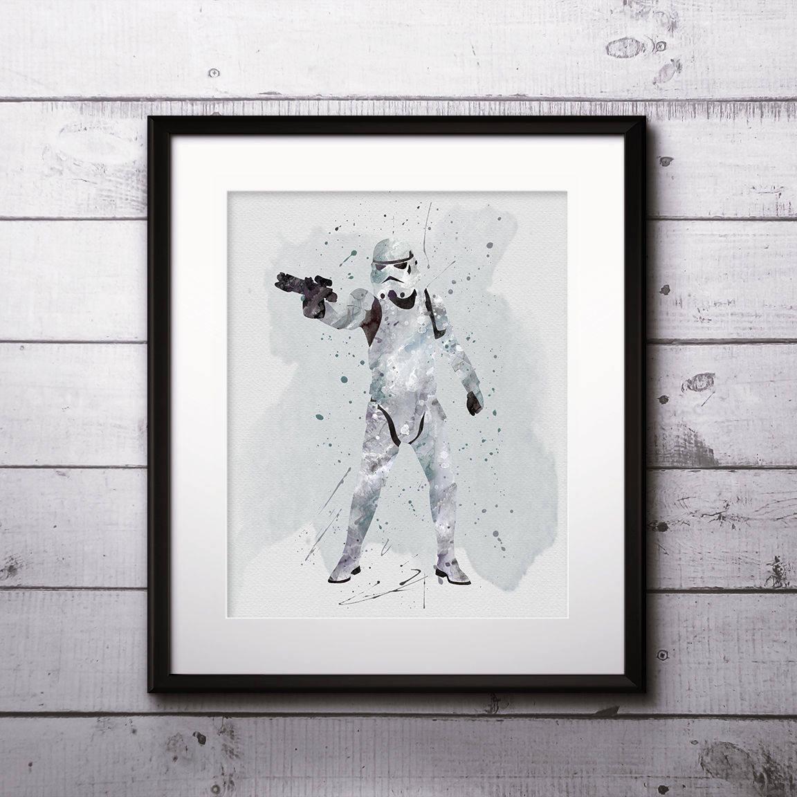 1152x1152 Stormtrooper Watercolor Print, Star Wars Painting, Star Wars