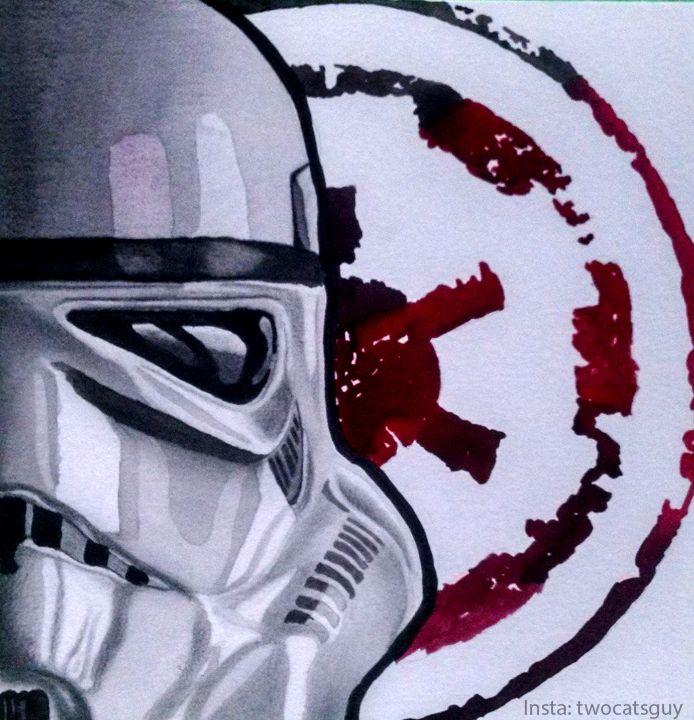 694x720 Watercolor, Stormtrooper, Star Wars Star Warsy
