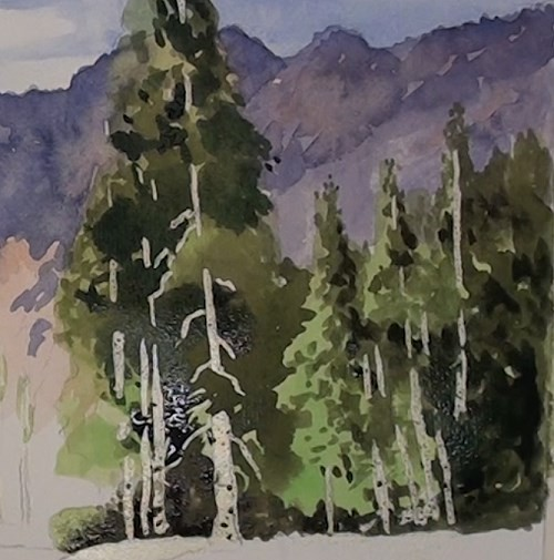 500x505 How To Paint A Peaceful Mountain Stream In Watercolor Online Art