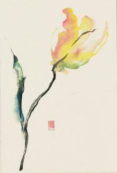 Sumi E Watercolor