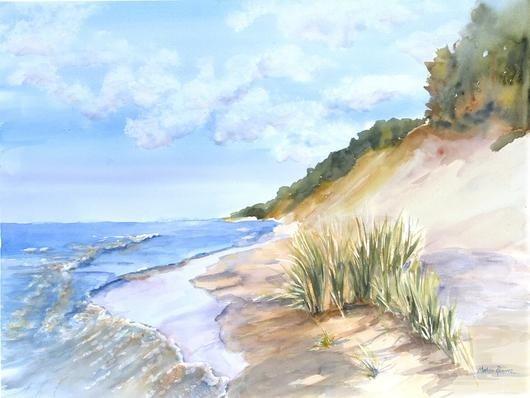 530x398 Shades Of Summer Watercolor Painting Lake Effect Gallery