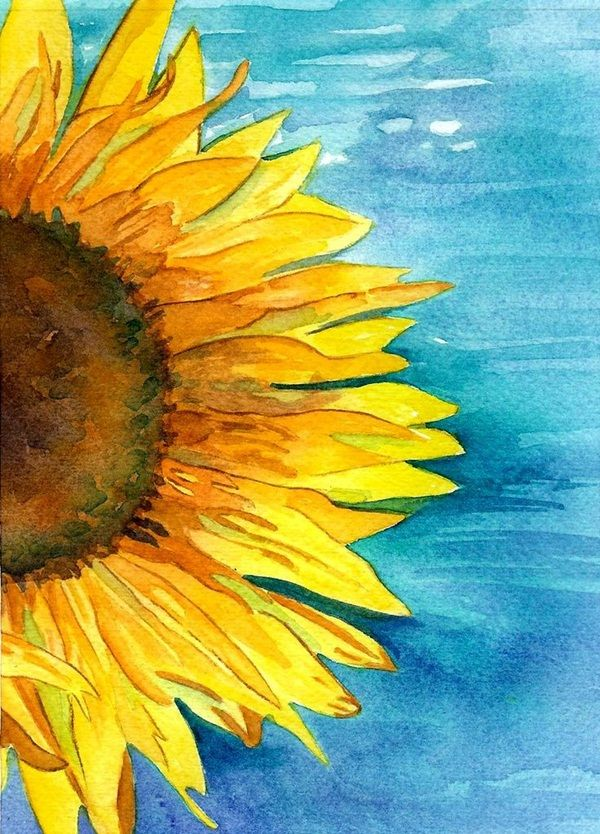 Sunflower Watercolor Painting At Getdrawings Com Free For Personal