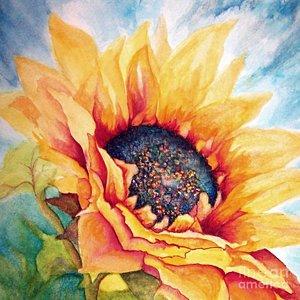 300x300 Sunflower Joy Painting By Janine Riley