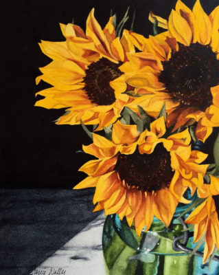 319x400 Carrie Waller Sunflower Watercolor