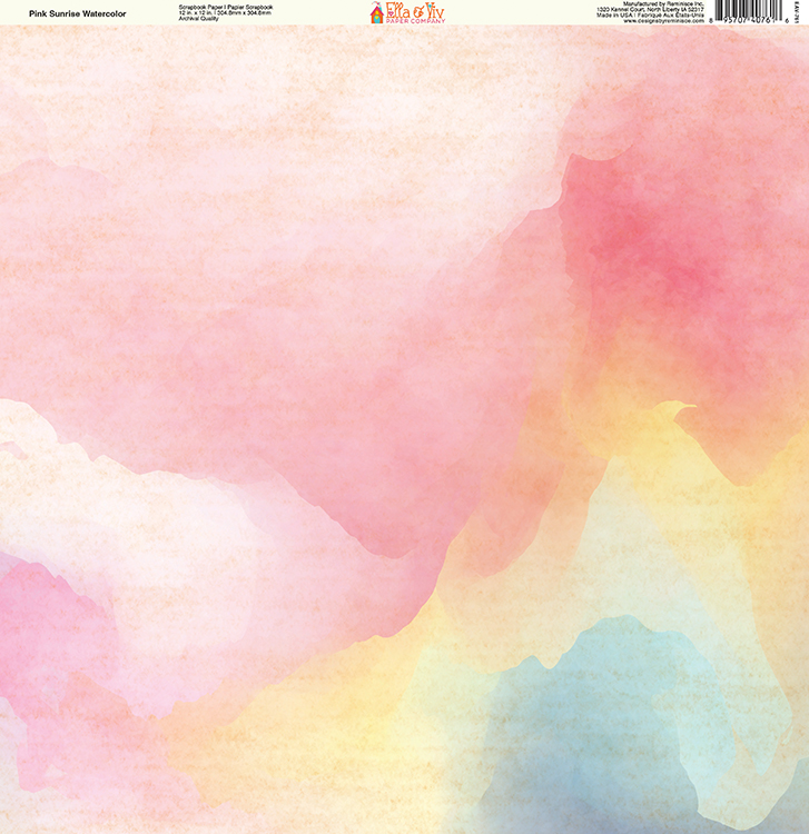 727x750 Ella And Viv Paper Company Painted Pink Sunrise Watercolor Paper