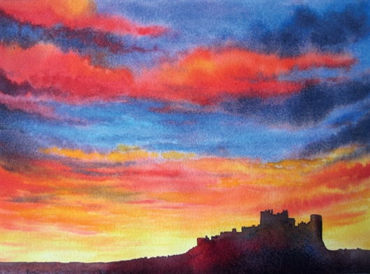 530x392 How To Paint A Vibrant Sunset In Watercolour With Gwen Scott