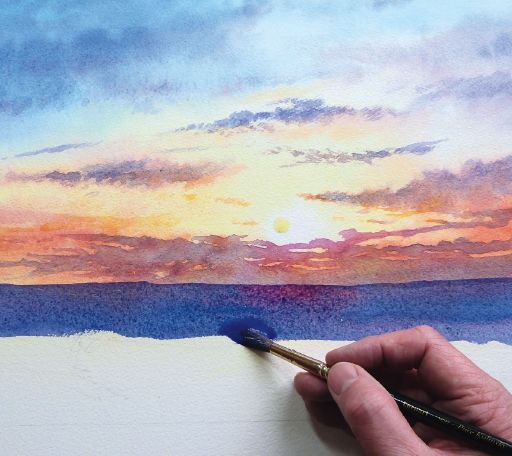 512x456 How To Paint A Sunrise And Sunset