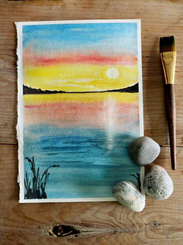 640x857 How To Paint A Sunset With Watercolor