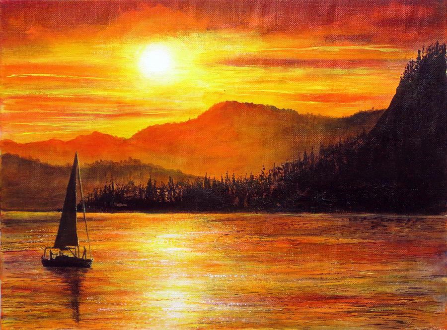 900x666 Italian Sunset Painting By Ann Marie Bone