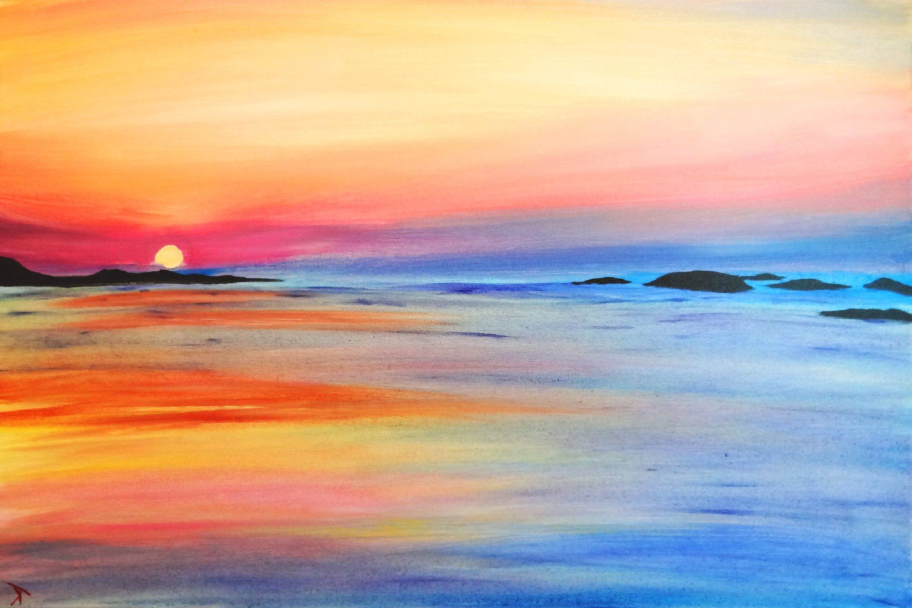 1800x1200 Painting Sunsets In Watercolour Watercolor Paintings Of Sunsets