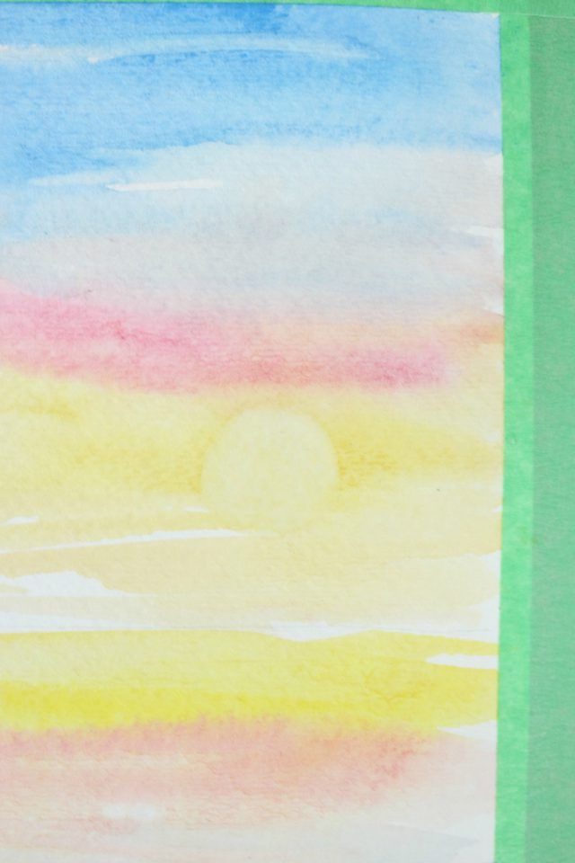 640x960 How To Paint A Sunset With Watercolors Painting