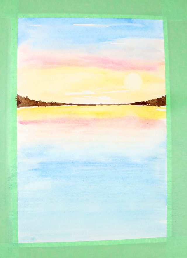 640x880 How To Paint A Sunset With Watercolors Ehow