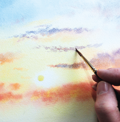 407x414 How To Paint A Sunrise And Sunset Art Tools, Details And