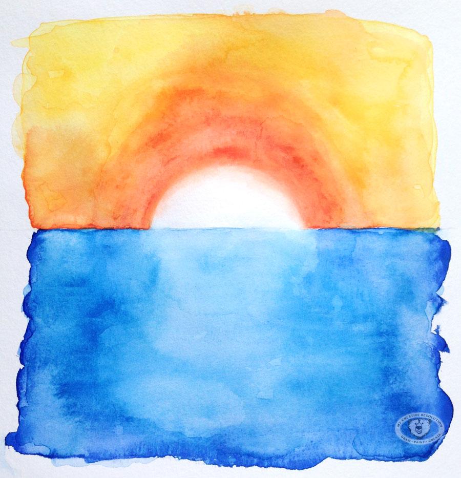 900x933 Watercolor Technique