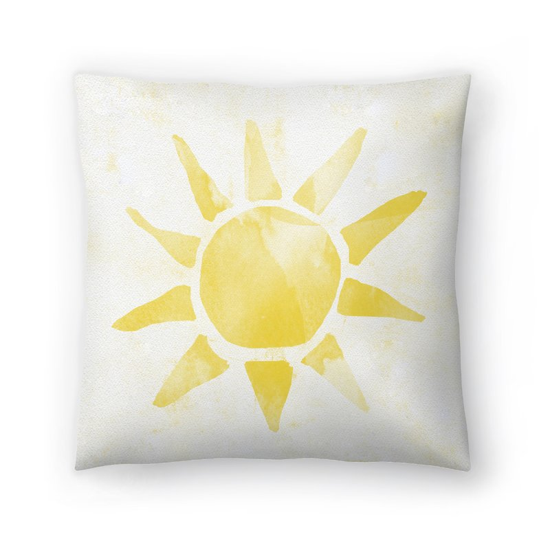 800x800 East Urban Home Sunshine Watercolor Throw Pillow Wayfair