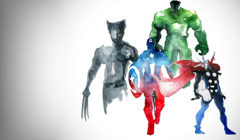 1440x843 Watercolor Superhero Wallpaper