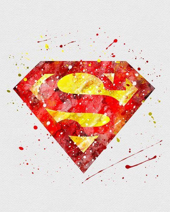 564x705 Resultado De Imagem Para Logo Superman Watercolor Free My Room