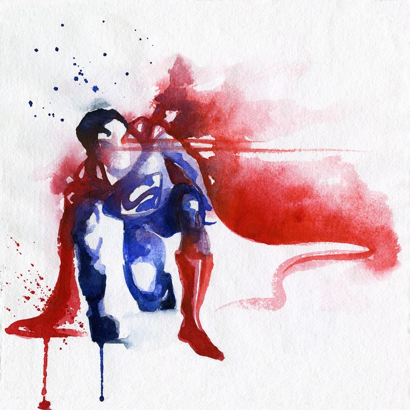 800x800 Blule Where Big Color Splashes Become Clever Superhero Paintings