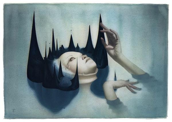 600x426 Watercolor Surrealism Eric Fortune