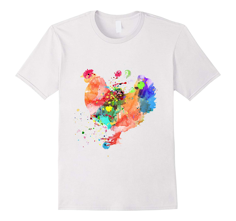 1500x1403 Chicken T Shirt Watercolor Splash Love Rooster Tee Shirt Rt