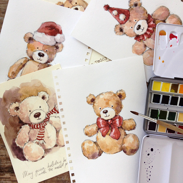600x600 How To Create A Cute Teddy Bear Painting In 4 Steps