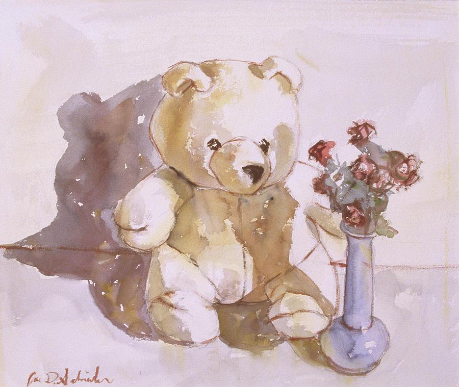 900x759 Still Life With Teddy Bear Painting By Joe Schneider