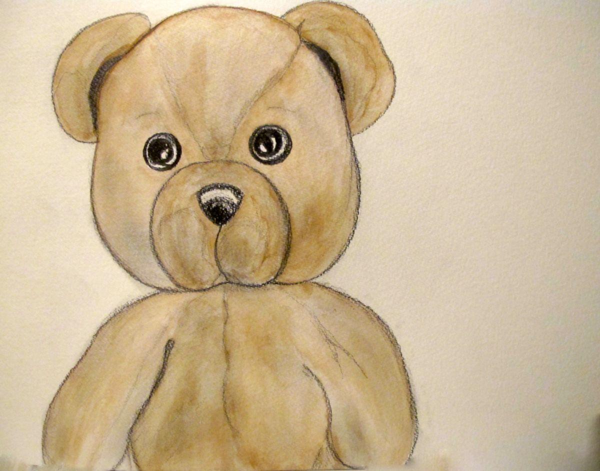 1200x942 Teddy Bear, Portrait ( Watercolor ) (Liza Peninon)