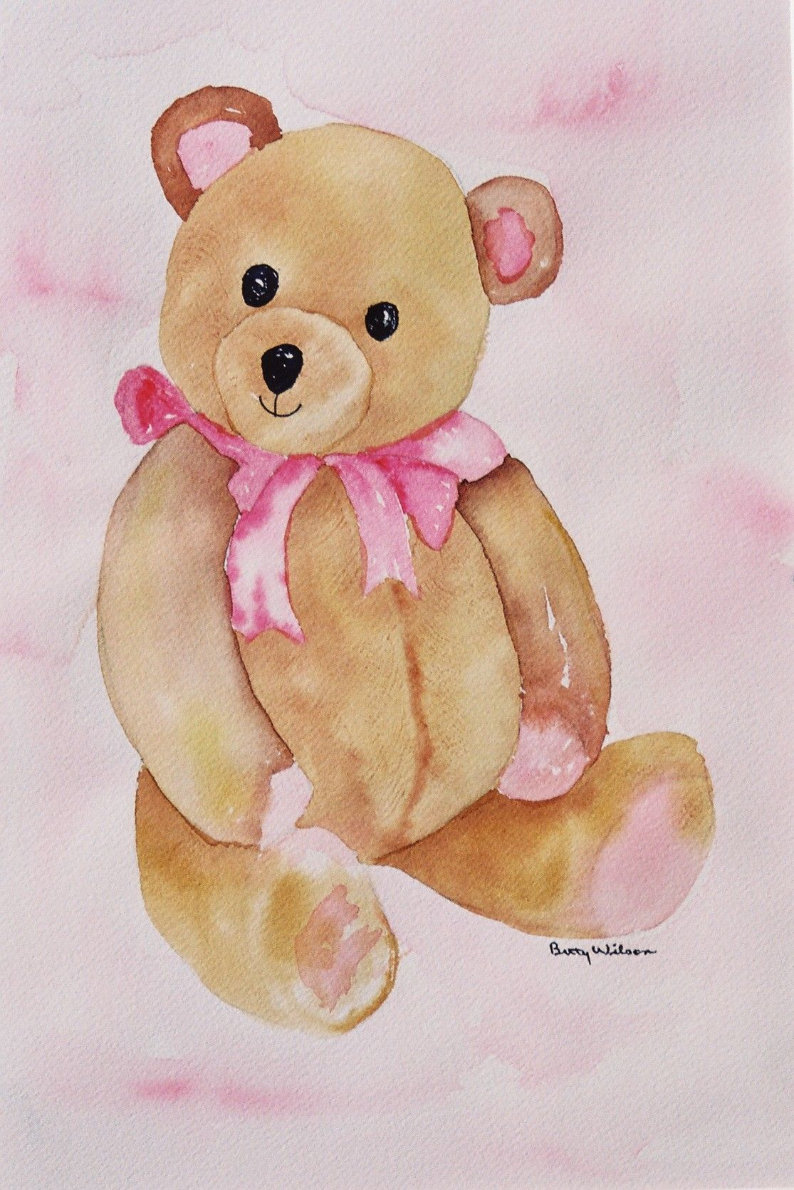 1115x1671 Teddy Bear Watercolor By Betty Wilson Betty Wilson Art