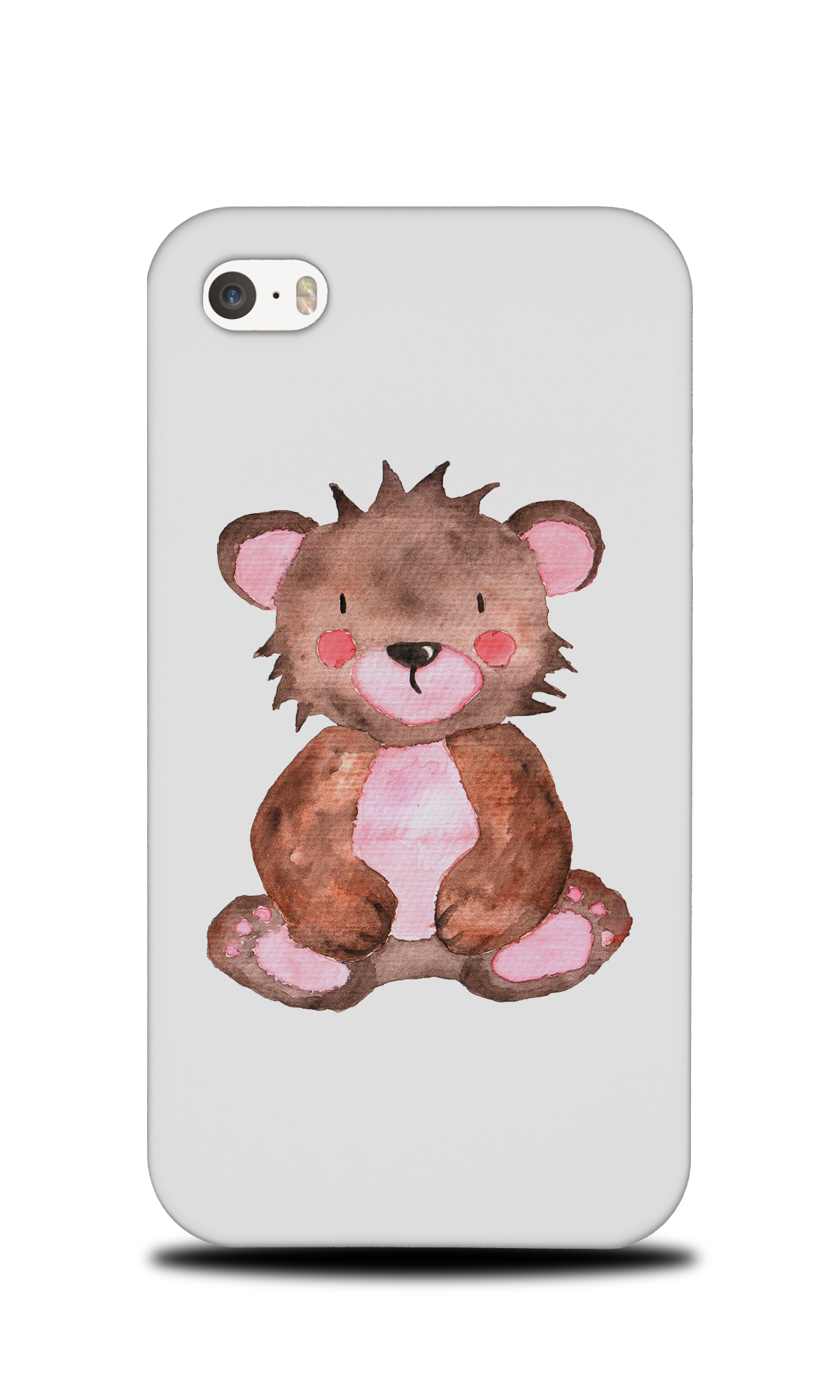 1200x2000 Watercolor Teddy Bear Hard Phone Case Cover For Apple Iphone Ebay