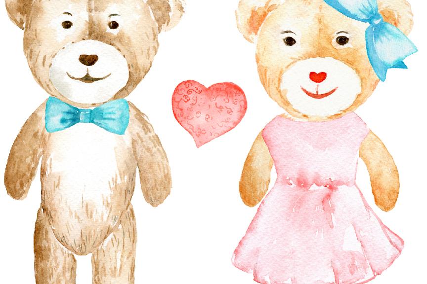 864x576 Watercolor Clipart Teddy Bear Love By Cornercroft