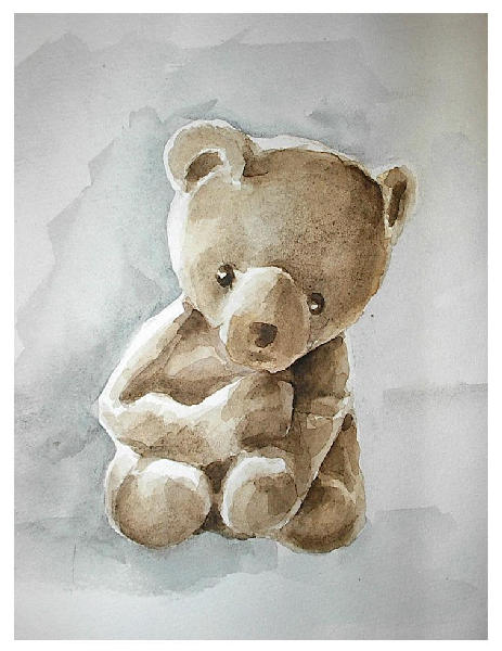 463x600 Watercolor Teddy