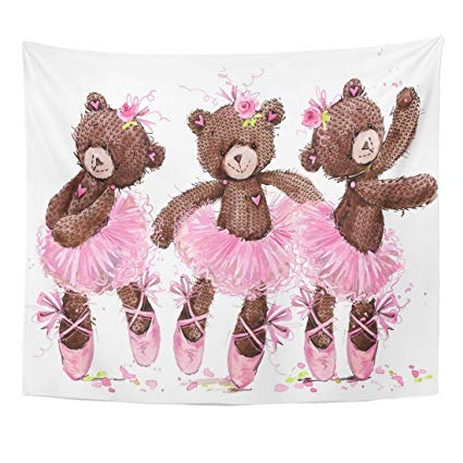 425x425 Tompop Tapestry Pink Birthday Cute Teddy Bear