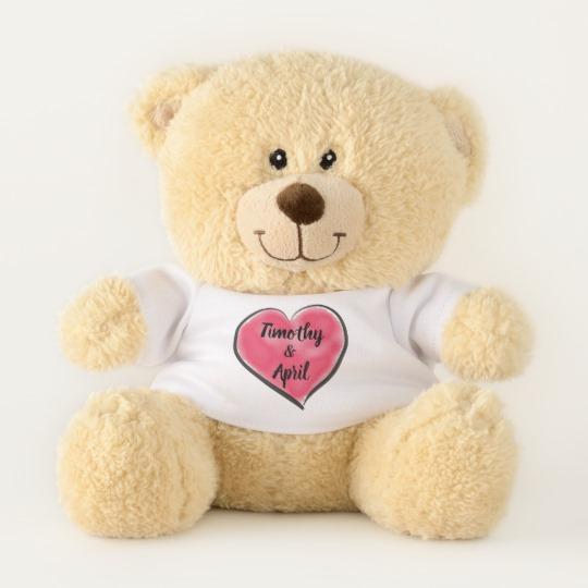 540x540 Big Red Watercolor Heart Teddy Bear