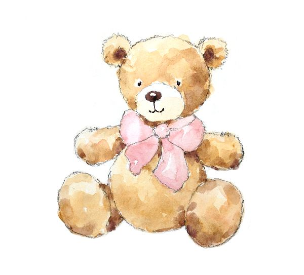 600x543 How To Create A Cute Teddy Bear Painting In 4 Steps Wattercolor