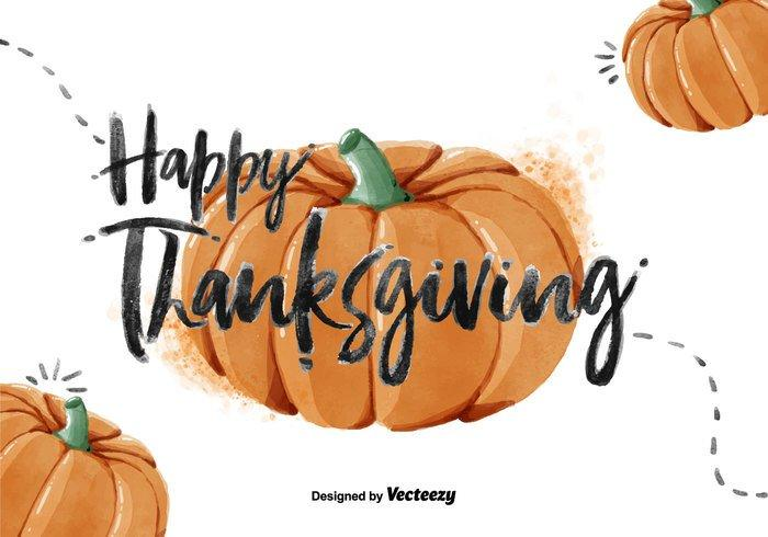 700x490 Thanksgiving Pumpkin Watercolor Psd