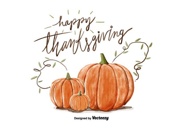 700x490 Thanksgiving Pumpkin Watercolor Vector