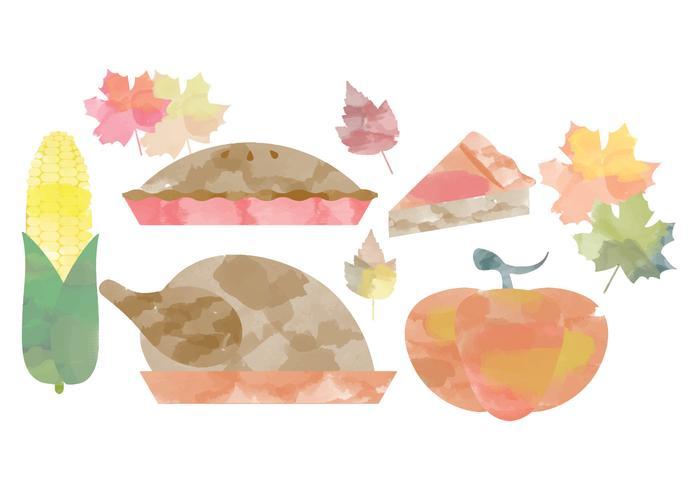 700x490 Thanksgiving Watercolor Vectors