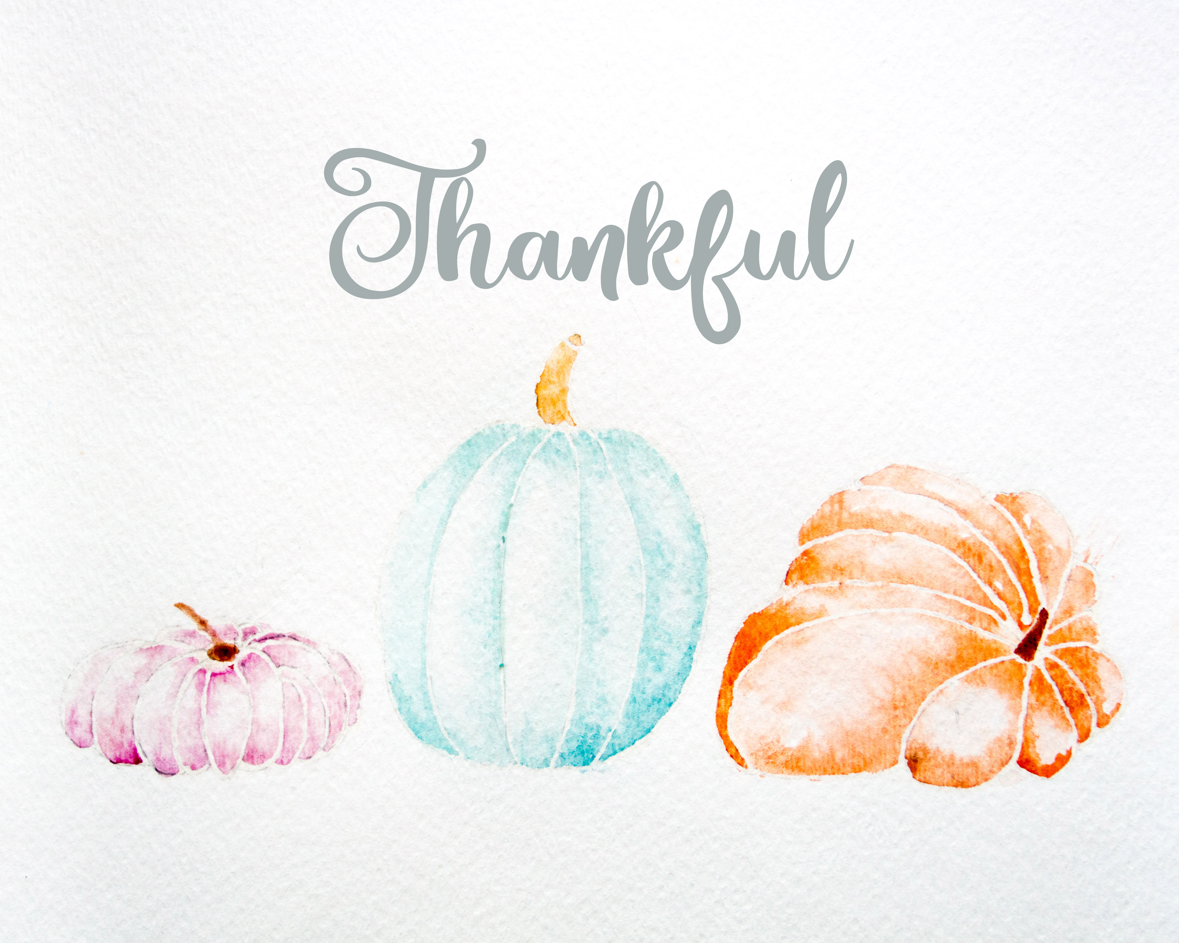 4084x3267 Watercolor Pumpkins Free Thanksgiving Art